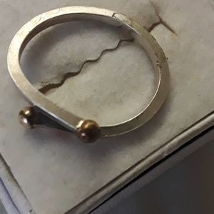 unknown Jewelry - sterling ring w/ 14k balls